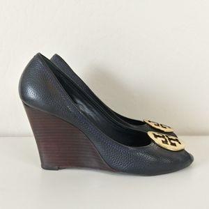 Tory Burch wedge peep toe heels